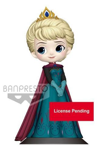 Disney Banpresto Q Posket Minifigur Elsa Coronation Style A Normal Color Version 14 cm