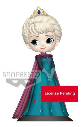 Disney Banpresto Q Posket Minifigur Elsa Coronation Style B Pastel Color Version
