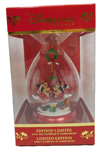 Disneyland Paris Weihnachtsbaumschmuck Ornament Mickey & Minnie Mouse 2018