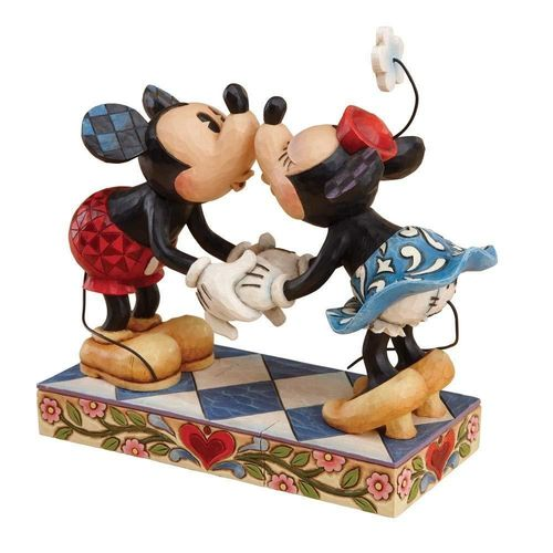 "Disney Enesco Traditions Jim Shore 4013989 Mickey & Minnie mouse ""Smooth for my Sweetie"""