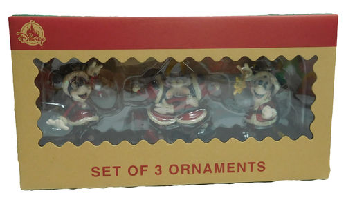 Disneyland Paris Weihnachtsbaumschmuck Ornament Set Mickey & Minnie