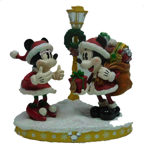 Disney Disneyland Paris Figurenset Mickey Minnie Weihnachten 12 cm hoch Good Tiddings