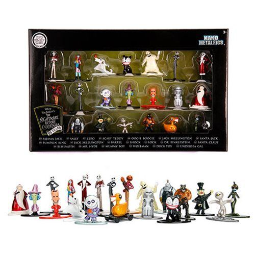 Nightmare Before Christmas Nano Metalfigs Die-Cast Metal Mini-Figure 20-Pack