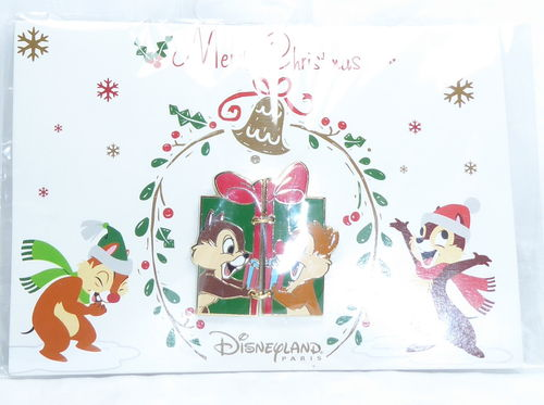 Disney Pin Pins DLRP 2018 Trade Set Chip Chap Weihnachten Christmas