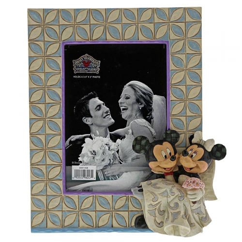 Disney Enesco Traditions Jim Shore Bilderrahmen Mickey & Minnie Hochzeit