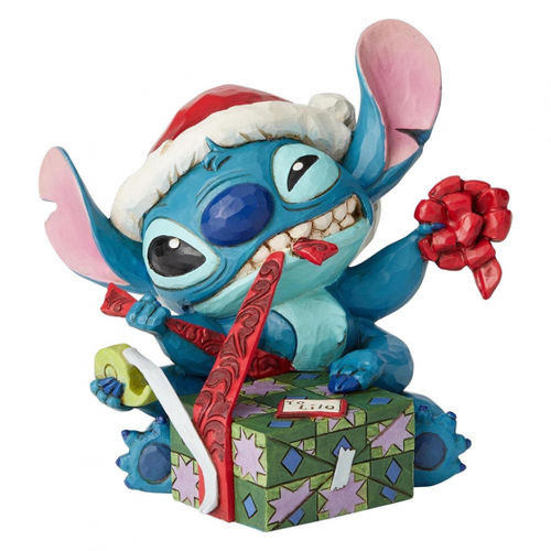 Disney Enesco Traditions Jim Shore Figur Stitch im Weihnachtsoutfit
