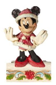 Disney Enesco Traditions Jim Shore Figur Minnie Mouse Weihnachtsmann