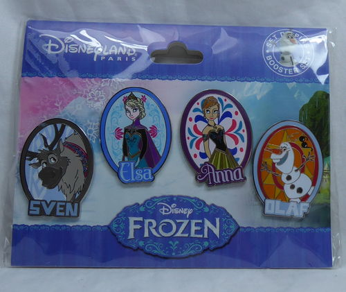 Disney Pin Pins DLRP 2018 Trade Set Frozen eiskönigin Anna Elsa Olaf Sven