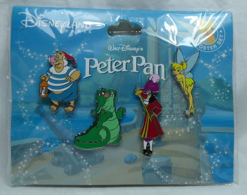 Pin Trade 2019 Disneyland Paris : Peter Pan Tic Toc Smee Capt. Hook Tinker Bell Set