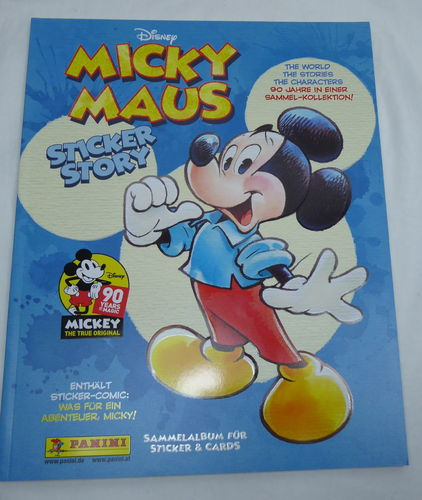 Disney Panini Sticker 90 Jahre Mickey Mouse Sammelheft