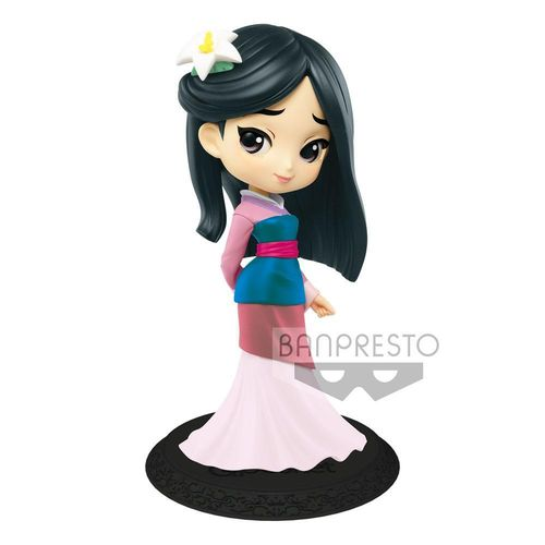 Disney Q Posket Minifigur Mulan B Pastel Color Version 14 cm
