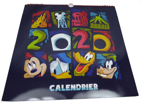 Disney Disneyland Paris 2020 calendar Kalender calendrier mickey minnie goofy do