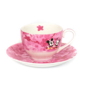 Disney English Ladies Co Porzellan Tasse und Untertasse Mickey und Minnie Tee Set Herbst