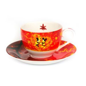 Disney English Ladies Co Porzellan Tasse und Untertasse Mickey und Minnie Tee Set FRühling