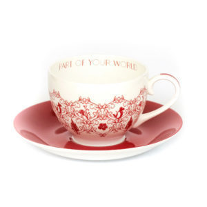 Disney English Ladies Co Porzellan Tasse und Untertasse Arielle