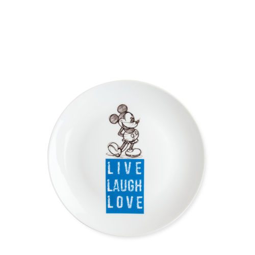 Disney Egan Geschirr LIVE LAUGH LOVE : Dessert Teller Mickey Mouse blau