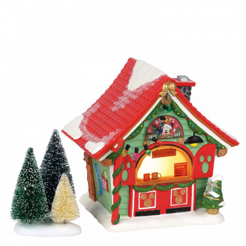 Disney Enesco Village by D56 Mickey`s Weihnachtsbaumhaus Tree Lot