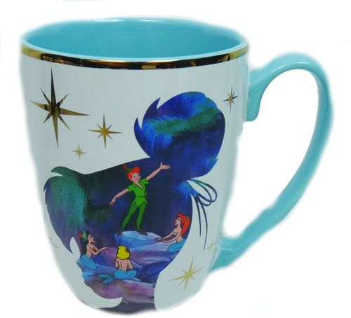 Disney Disneyland Paris MUG Coffee Pott cup Kaffeetasse Teetasse Peter Pan Silhouette Film