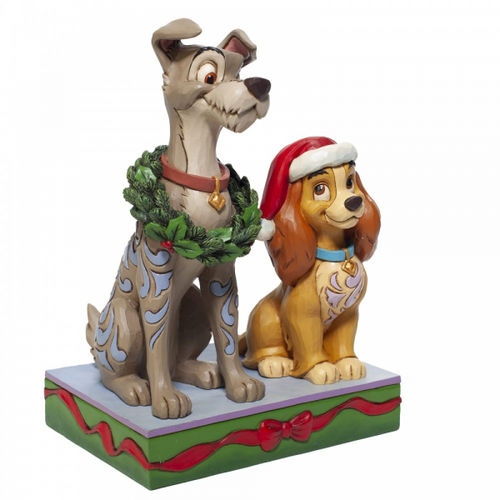 Disney Enesco Jim Shore Traditions 6007071 Susi & Strolch Lady and the Tramp Weihnachten