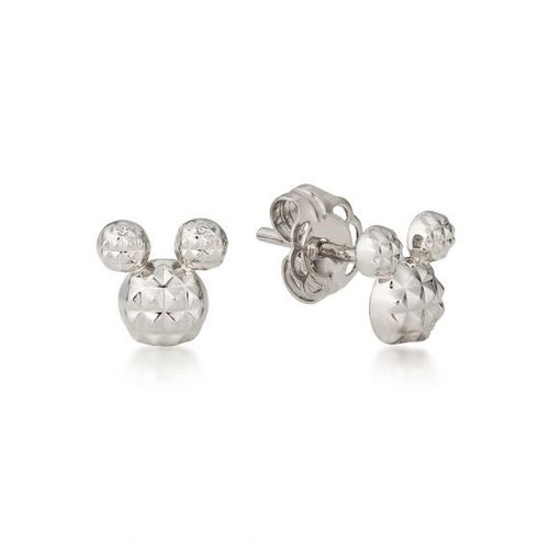 Mickey Maus - Ohrstecker Diamond Cut Sterling Silber Couture Kingdom
