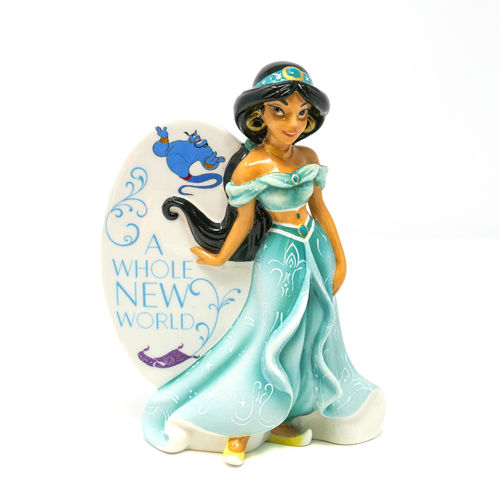 Disney Figur English Ladies Porzellan mit 24k Gold Anteil : Aladdin Jasmin