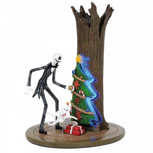 Disney Enesco Christmas Village by D56 Nightmare before Christmas Jack entdeckt Christmas Town