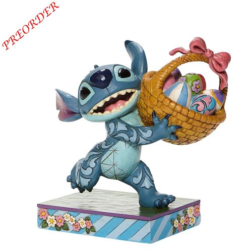 Disney Enesco Traditions Jim Shore  Stitch Running with Easter Basket 6008075