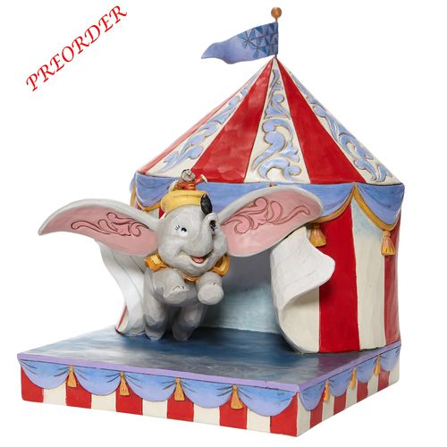 Disney Enesco Traditions Jim Shore  Dumbo Flying out of Tent Scene 6008064