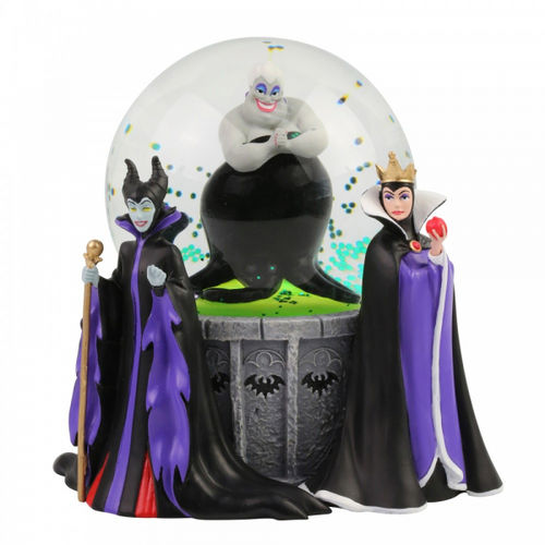 Disney Enesco Department 56 Schneekugel Villain Die Böse Königin, Ursula & Maleficent