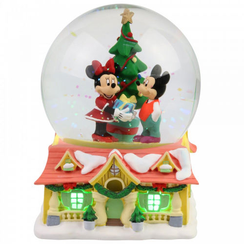 Disney Enesco Department 56 Schneekugel Mickey & Minnie Weihnachten