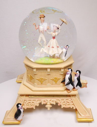 Disney Disneyland Paris Schneekugel Spieluhr Mary Poppins by Kevin & Joday 55th Edtion