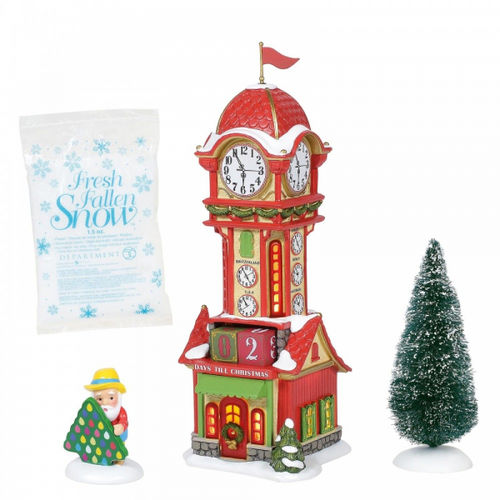 Enesco Department 56 North Pole series : Christmas Countdown Tower