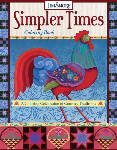 Jim Shore Coloring Book ausmalbuch Traditions Simpler Times