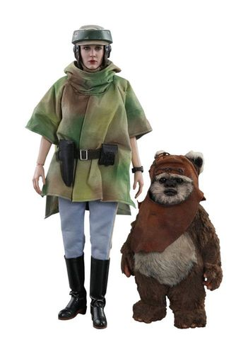 Star Wars Episode VI Movie Masterpiece Actionfiguren Doppelpack 1/6 Princess Leia & Wicket 15-27 cm
