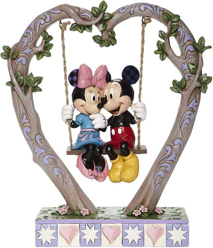"Jim Shore Disney Traditions Mickey & Minnie auf Schaukel ""Sweethearts in Swing"""